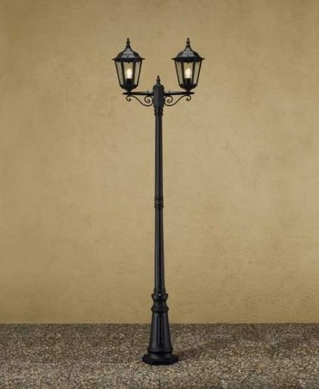 Awesome Add Some Old English Style To Your Garden With This Double Street Lamp In  Black,