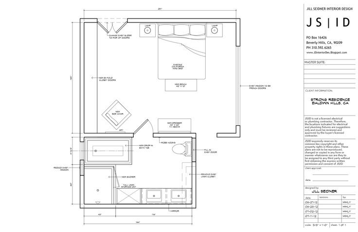 Baldwin Hills, CA Residence, Master Bedroom & Bathroom