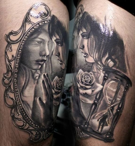 1000 Images About Mirror Tattoos On Pinterest