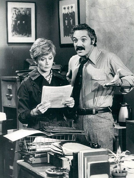 Hal Linden and Barbara Barrie as Barney and Liz Miller from the television program Barney Miller.