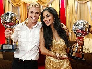 Season 10 winners: Nicole Scherzinger & Derek Hough  (I was rooting for Evan Lysacek this time.)