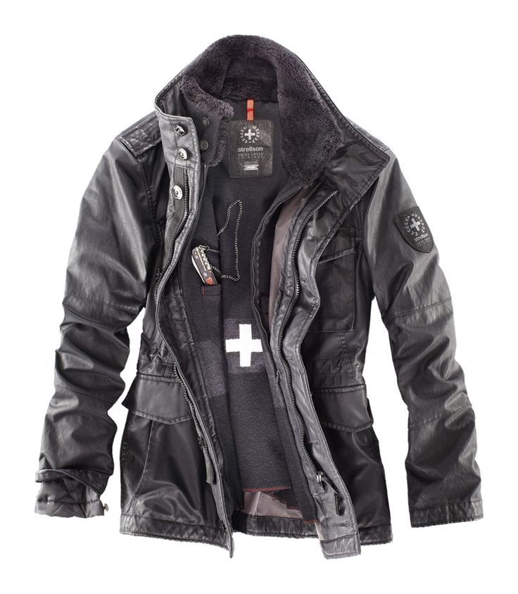 Strellson Swiss Cross Revival Jacket, with swiss army knife