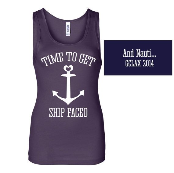 Get ship faced with these customized tanks at your Bachelorette Party!    HOW TO ORDER:    FONT/DESIGN COLORS: Choose from the chart of vinyl colors.