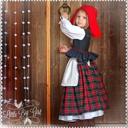 Детские карнавальные костюмы ручной работы. Ярмарка Мастеров - ручная работа. Купить Костюм Красной Шапочки. Handmade. Комбинированный, шерсть