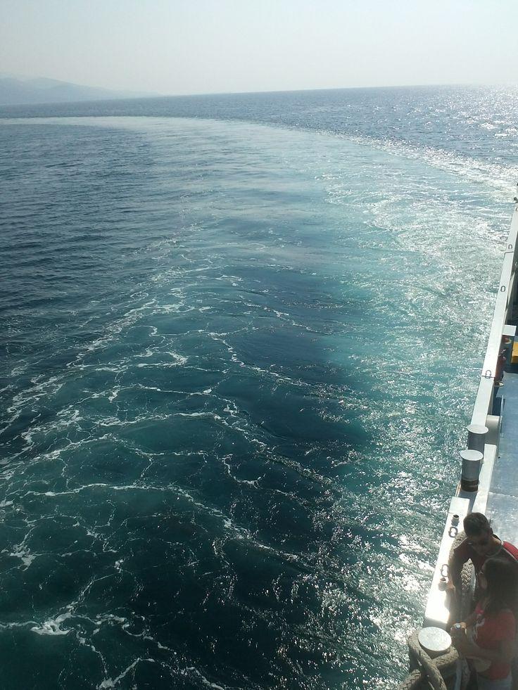 sea,waves, ferryboat