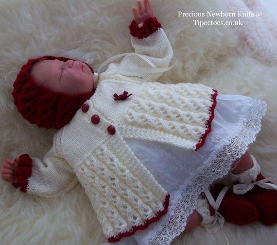 Baby Girls or Reborn Dolls Knitting by PreciousNewbornKnits