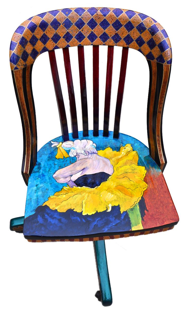 43 best images about painted child 39 s chair with artistic for Funky furniture