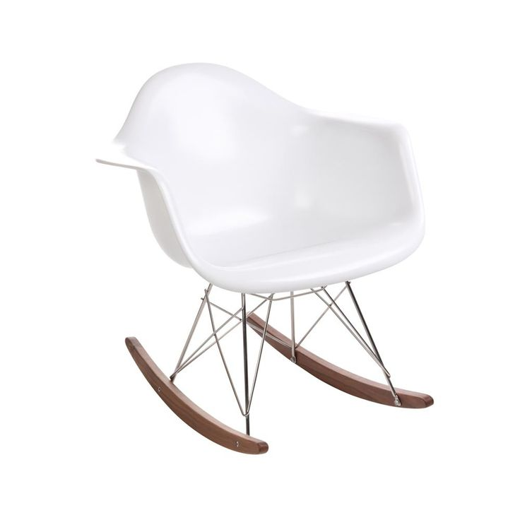 Shell Rocker Chair U2013 Eames History: This Eames Fiberglass Rocker Has Been  Popularized For Its Balance Of Beauty And Function With Its Super  Comfortable ...