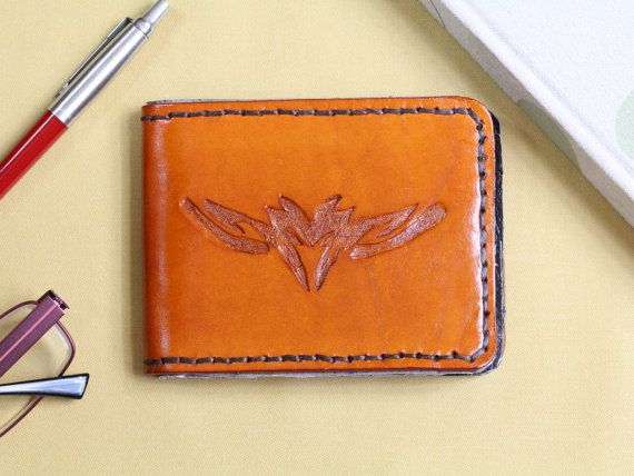 Tribal Wallet  Carved Leather Wallet  by TinasLeatherCrafts. Repin To Remember.