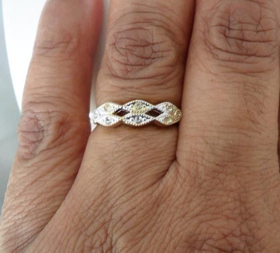 New Old Stock Fake Engagement Ring 18KT HGE Size 7 Ring Faux Diamond Ring Espo Ring Mid Century Ring Cheap Engagement Ring Fake Diamond Ring