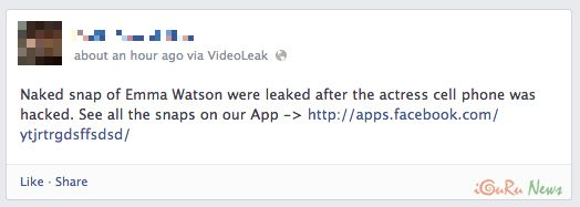 Facebook Scam δείτε ένα γυμνό βίντεο της Emma Watson - http://iguru.gr/2013/06/19/facebook-scam-emma-watson-naked-video/