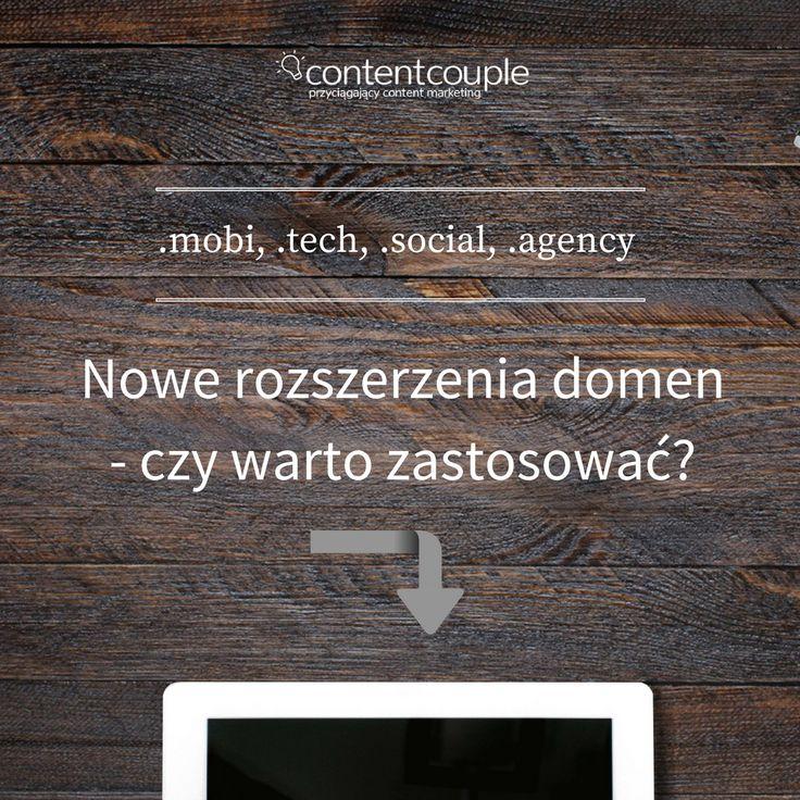Grafika na instagram ContentCouple, dotycząca wyboru domen