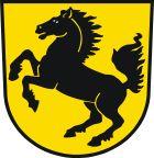 """Das Wappen der Stadt Stuttgart zeigt ein steigendes, schwarzes Pferd – das sogenannte """"Stuttgarter Rössle"""".  Die erste noch erhaltene Abbildung des Stuttgarter Stadtwappens stammt aus dem Stadtsiegel des Jahres 1312."""