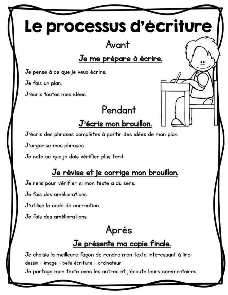 FRENCH writing center/ Centre d'écriture Affiches et outils
