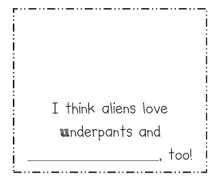 Writing Frames to Support Teaching on Aliens Love Underpants