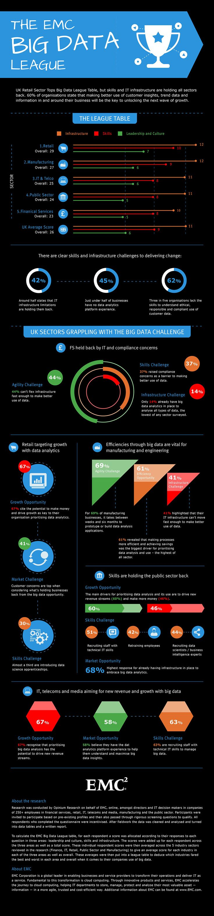 The EMC Big Data League Infographic
