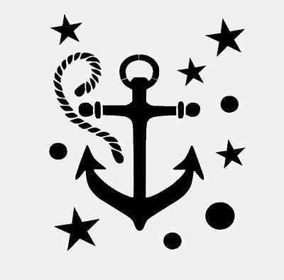 ANCHOR STENCIL NAUTICAL COASTAL BEACH MARINE SEA ROPE TEMPLATE CRAFT PAINT NEW