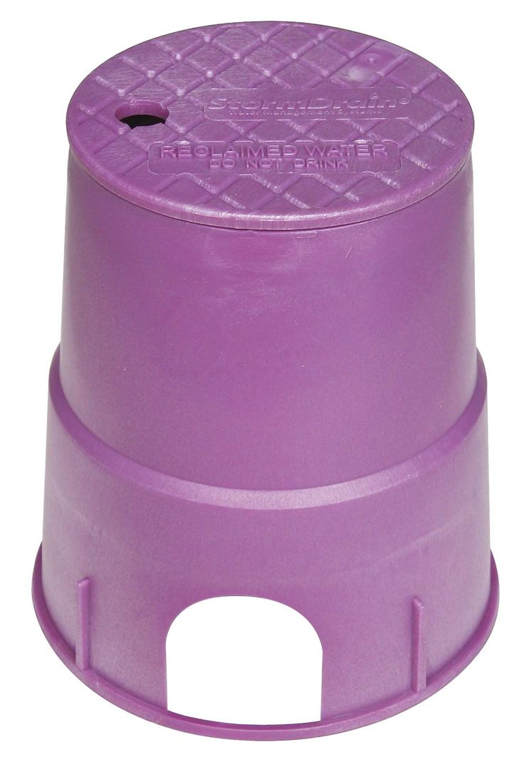 Fernco FSD-63 Storm Drain 6-inch Round Purple Valve Box with Lid, Reclaimed Water