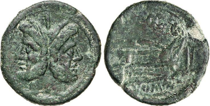 NumisBids: Numismatica Varesi s.a.s. Auction 65, Lot 42 : ANONIME (211-208 a.C.) Asse, simbolo caduceo. D/ Testa di Giano ...