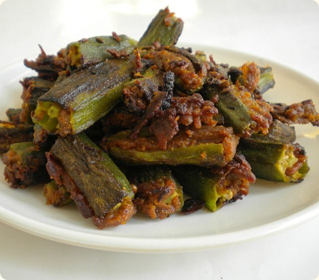 Besanwali Bhindi. Turned out good. Had halved the recipe. Wil be using more amchur n other masalas next time.