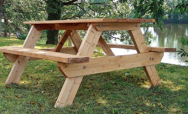 Plan De Salon De Jardin En Palette | PICNIC TABLE | Diy table ...