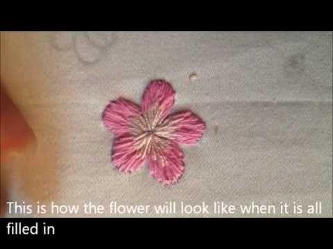 Vietnamese Embroidery: Flower - achei um pouco.rapido mas da para entender....