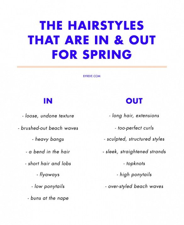 The hairstyles that are in and out for spring