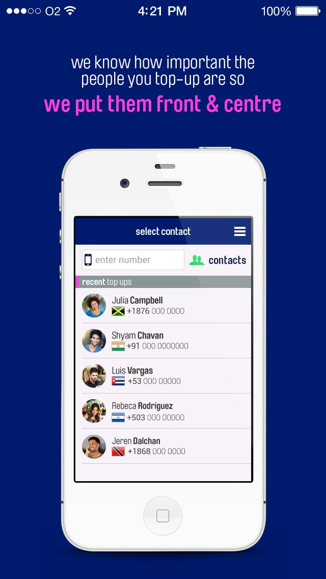 Step 1, select the contact person you wish to send a mobile top-up to. https://www.ezetop.com/mobile-apps?x=hs