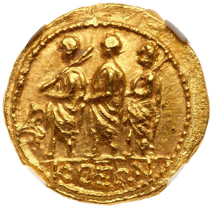 Skythia, Geto-Dacians. Koson. Gold Stater (8.48 g), mid 1st century BC KOΣΩN, Roman consul advancing left, accompanied by two lictors; in left field, monogram. Eagle with wings displayed standing left on scepter, holding wreath in talon. Iliescu 1; RPC 1701. Fully lustrous. . #Coins #Gold #Ancient #MADonC