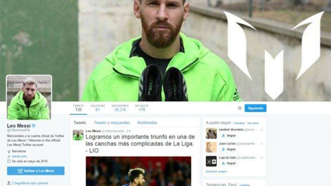 Twitter verificó una cuenta falsa de Messi