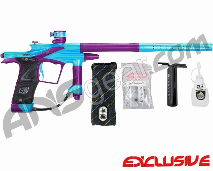 Planet Eclipse 2011 Ego Paintball Gun - Teal/Electric Purple