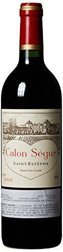 2003 Chateau Calon Segur SaintEstephe Bordeaux 750 mL >>> More info could be found at the image url. http://www.amazon.com/gp/product/B00FEZFPL0/?tag=allwine01-20&pjk=061016003237