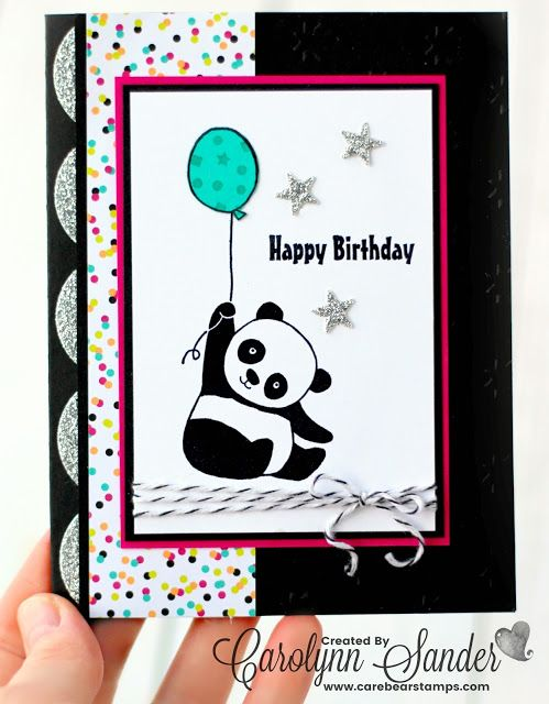 Stampin' Up! Sale-A-Bration With Party Pandas | Stampin' Up! Party Pandas Stamp Set | TGIF Challenge 147 | Carolynn Sander | Care Bear Stamps | Stampin' Up! Independent Demonstrator | Website for Stamping, Card Making, and Scrapbooking | Located in Calgary, Alberta, Canada  #TGIFC147 #TGIFC #stampinup #stampinupcanada #stampinupdemo #stampinupdemonstrator #saleabration #yyc #papercrafts #cardmaking #carebearstamps #calgarycrafts #handmade #panda #pandas #partypandas #cardmaking #birthdaycard