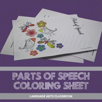 parts of speech coloring sheet - Fun Sheets For Students