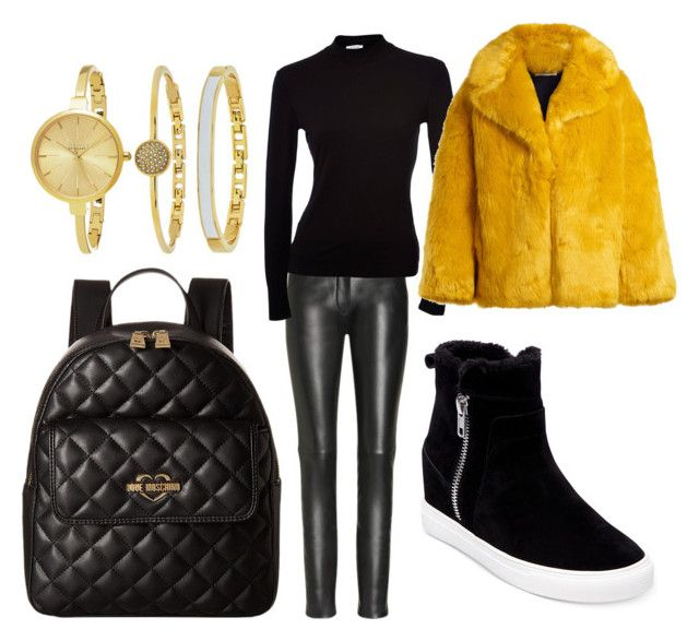 """""""Shopping"""" by madisonkiss on Polyvore featuring Diane Von Furstenberg, Steven by Steve Madden, Love Moschino and SO & CO"""
