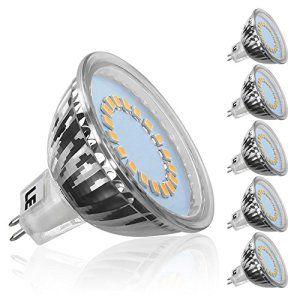 LE Lot de 5 Ampoules LED MR16 GU5.3, 3,5W Equivalent à 50W lampe halogène, 280lm 12V, 120° Angle de Rayonnement, 3000K Blanc chaud LED lampe