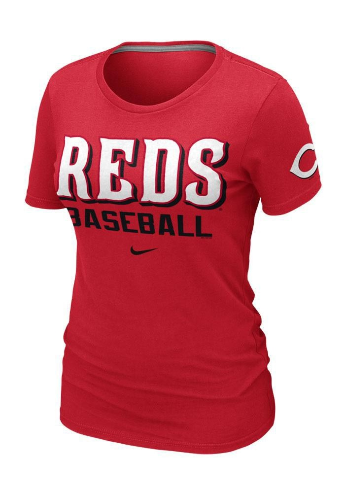 Cincinnati Reds Women's Red Practice T-Shirt by Nike $28.00 www.rallyhouse.com