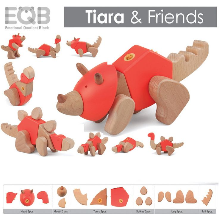 EQB Dino Series - Tiara and Friends - Tumble & Roll Educational Toys. The EQB Dino Series kit will provide kids with endless hours of fun! Recommended for ages 3+. $36.00 #educationaltoys #transformationaltoys #kids #toys