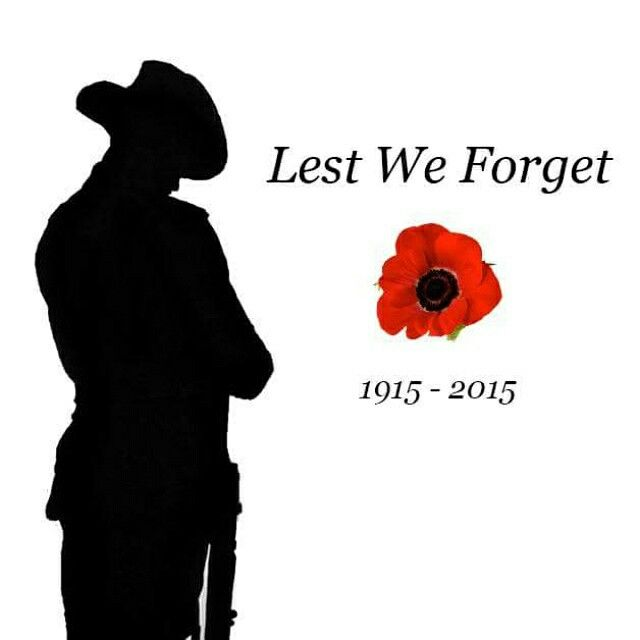 LEST WE FORGET ❤