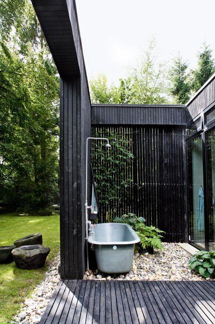 My Scandinavian Home - outside bathroom