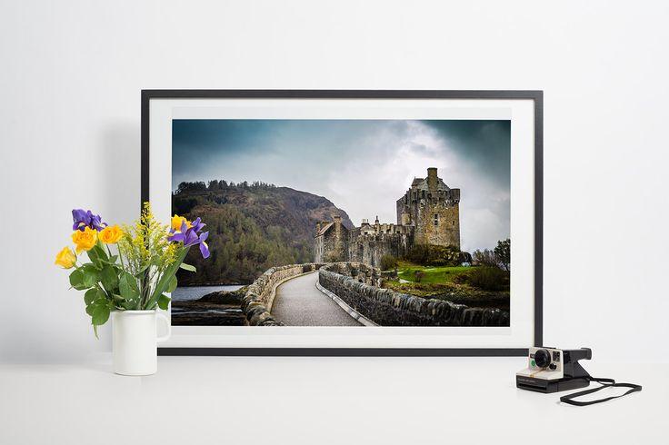 Highlanders castle, Scotland, landscape, Eilean Donan by Anovva on Etsy