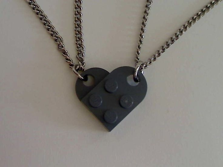 Awesome lego heart necklaces, but I don't know if I want to go through the trouble of trying to find or buy the individual pieces.
