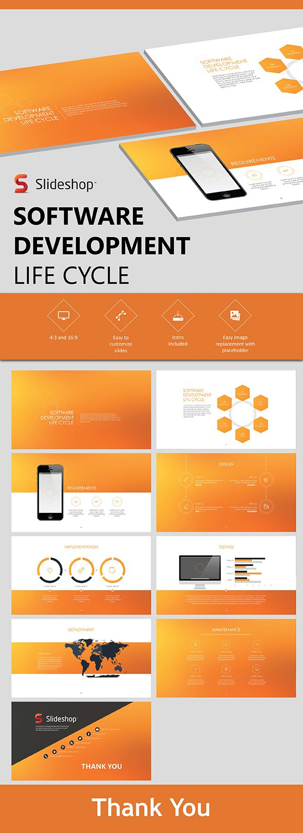 Software Development Life Cycle - PowerPoint Template