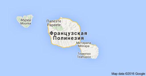 Таити, Французская Полинезия: карта
