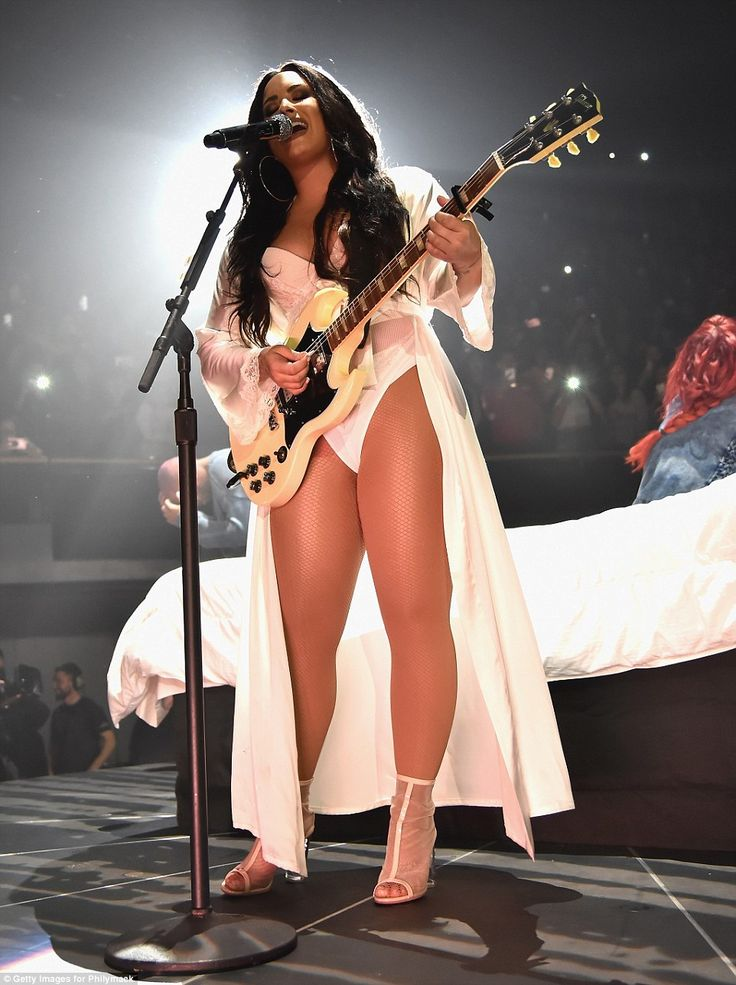 Demi Lovato wows in skimpy outfits on Tell Me You Love Me World Tour | Daily Mail Online