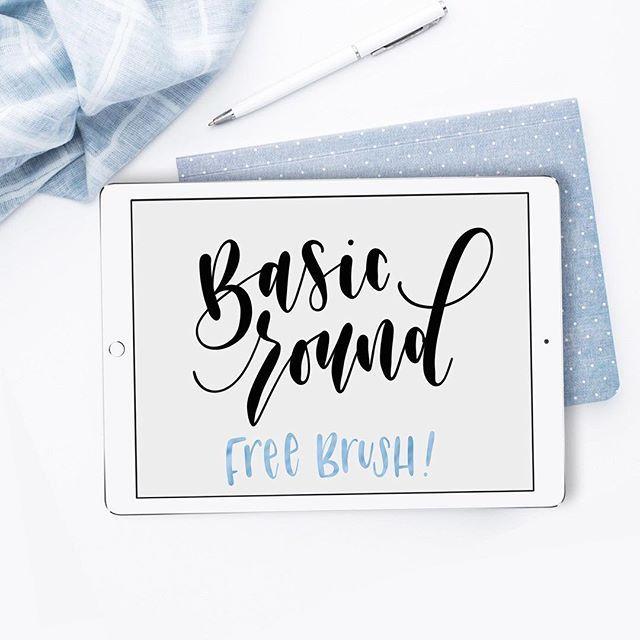 Freebie Alert Basic Round Is A Free Ipad Lettering Brush I Ve