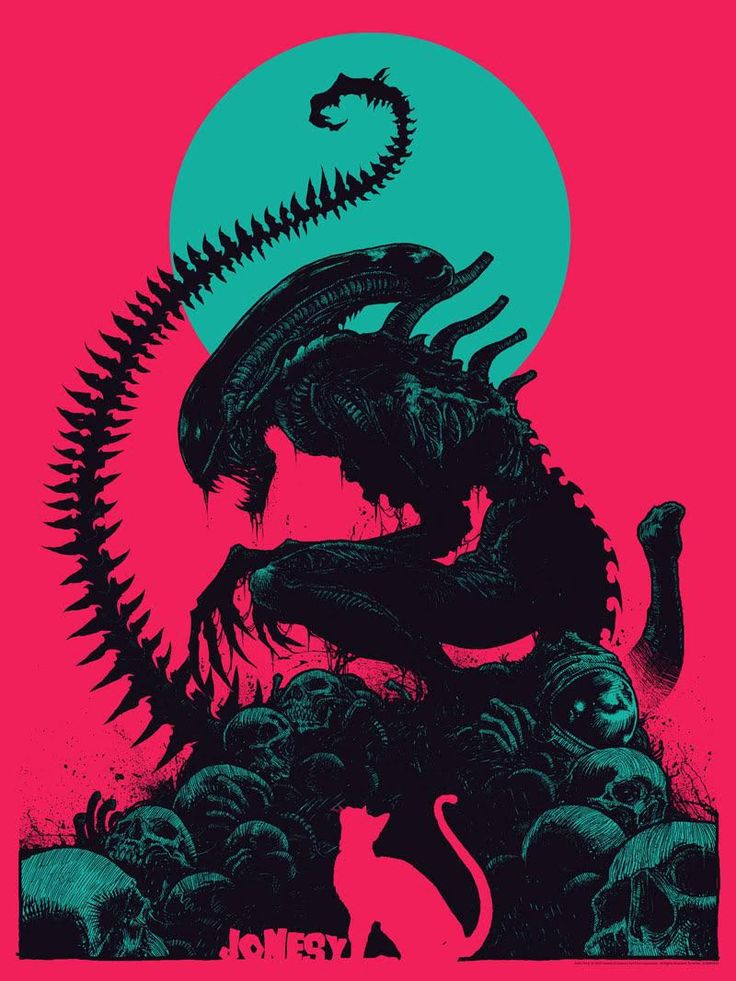 The first in a new series of Bottleneck Gallery Alien posters have been revealed and it's a tribute to Jonesy, the cat from the original 1979 film.