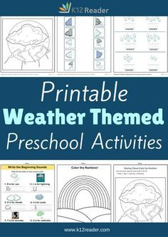 Teach your students about the kinds of weather as they practice letters, numbers, and colors with these Weather Preschool Theme Activities. Click here!