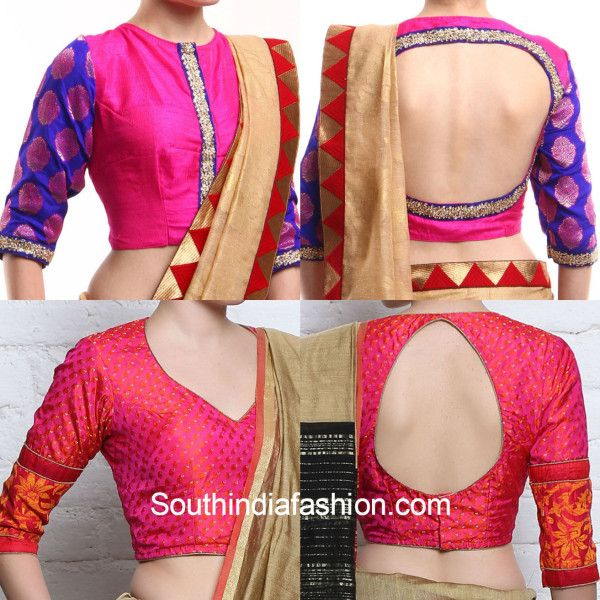 Brocade Blouse Designs for silk and pattu sarees
