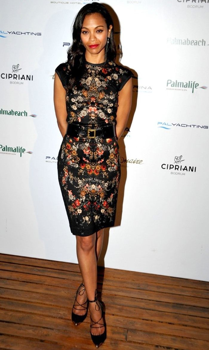 Zoe Saldana at the opening party for Palmarina Bodrum in Bodrum, Turkey, on June 22, 2013